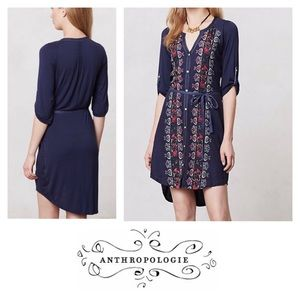 Plein Air Anthro Embroidered boho  dress TINY S